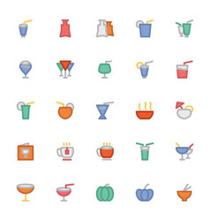 Food Colored Icons 8 vector image