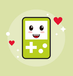 Game kawaii cartoon happy cute icon vector