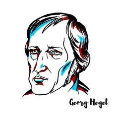 georg hegel portrait vector image