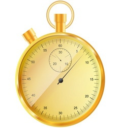 Gold stopwatch vector