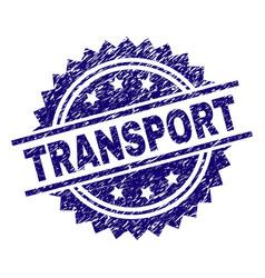 Grunge textured transport stamp seal vector