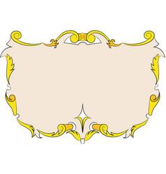 heraldic vintage frame banner vector image