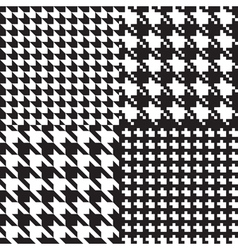 houndstooth patterns set vector image