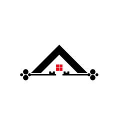 house key logo vector image