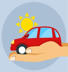 Icon car insurance flat style vector