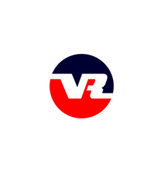 initial letter v r logo template with bold sporty vector image