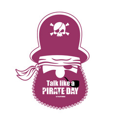 international talk like a pirate day pirate vector image