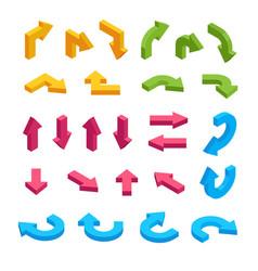 Isometric arrows set infographic elements vector