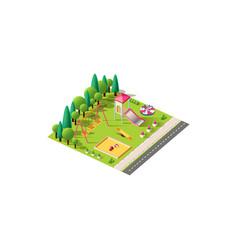 isometric children playground vector image
