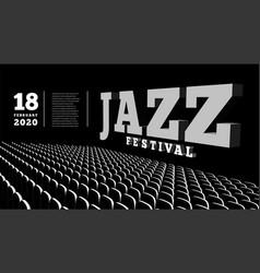 jazz music festival concert hall 3d vector image