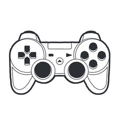 joystick art vector image