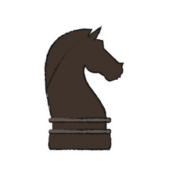 Knight chess piece vector