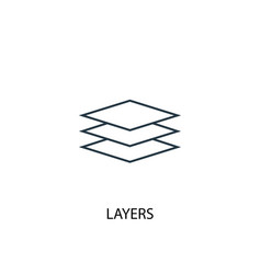 Layers concept line icon simple element vector