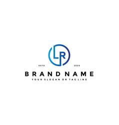 Letter lr logo design vector