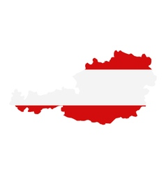 map austria vector image