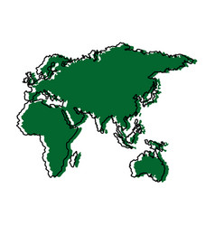 map of europe africa and asia country vector image