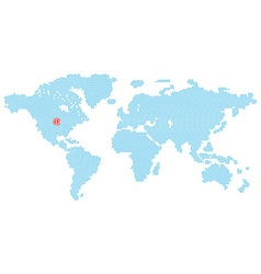 map of the world consisting of blue E-mail symbol vector image