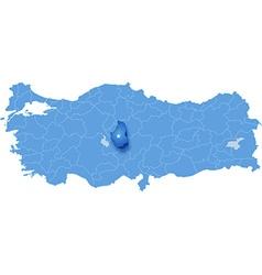 Map of Turkey Nevsehir vector