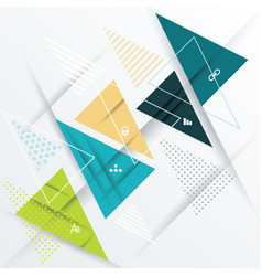 modern design with paper triangles vector image