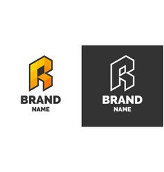 Modern logo and sign the letter r vector