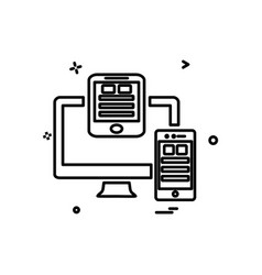 Monitor icon design vector
