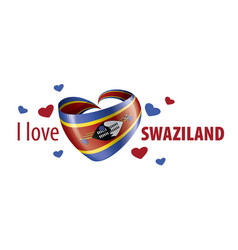 National flag swaziland in shape vector