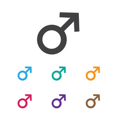 of coiffeur symbol on male vector image