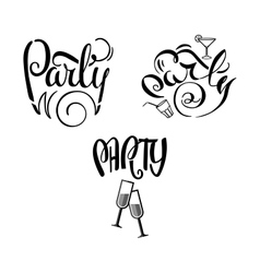 Party Labels Doodle-01 vector