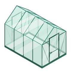 Plastic greenhouse icon isometric style vector