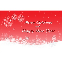 Red merry Christmas and happy new year vector image