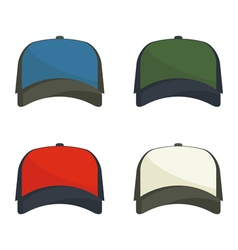 Set baseball caps vector image