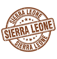 Sierra leone stamp vector
