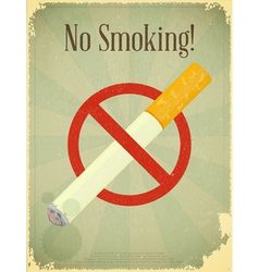 Sign No Smoking vector image
