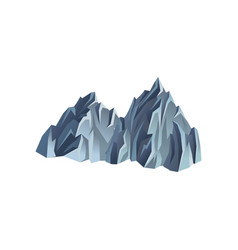 silhouette of mountain range rocky hill with vector image