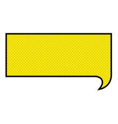 Silhouette of rectangular speech in yellow vector