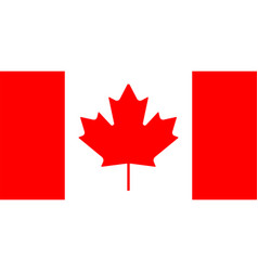 Simple flag canada is isolated in official vector