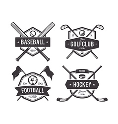 Sport Emblems 1 vector image