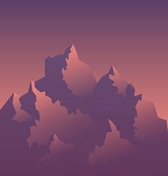 stylized image mountains at sunrise vector image