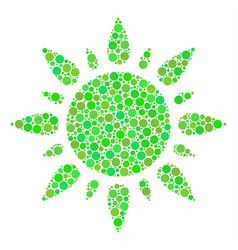 sun mosaic of circles vector image