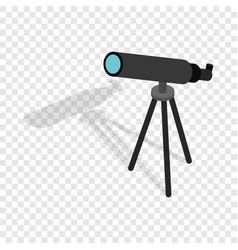 Telescope isometric icon vector