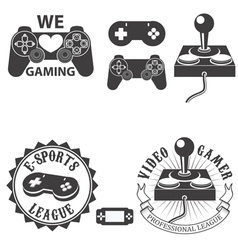 Video gamer vector