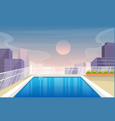 water outdoor swimming pool hotel city relax view vector image