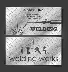 Welding business card for welders vector