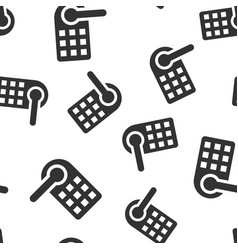 wireless door lock sign icon seamless pattern vector image