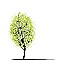 Young tree green for your design vector image