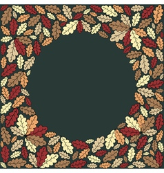 background with colorful leaves vector image vector image