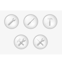 buttons with tools vector image vector image