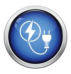 Electric plug icon vector image vector image