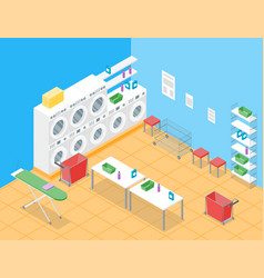 laundry room concept interior with furniture vector image vector image