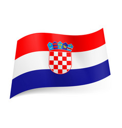 national flag of croatia red white and blue vector image vector image